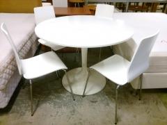 Pelarbord + 4st stolar