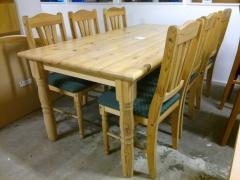 Köksbord + 6st stolar