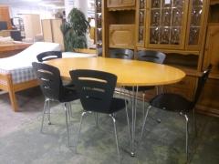 Bord + 6st stolar
