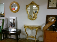 Spegel + konsolbord