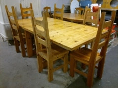 Klaffbord + 6st stolar