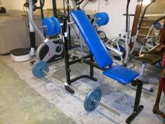 Bänkpress + stång/vikter