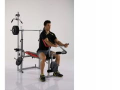 Träningsbänk + stång/vikter
